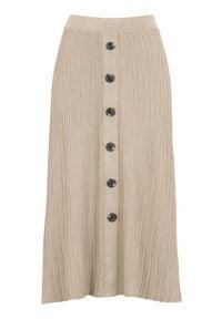 Freequent Spódnica Ani beżowy melanż female beżowy XL (44). Kolor: beżowy. Materiał: prążkowany, guma. Wzór: melanż. Styl: elegancki