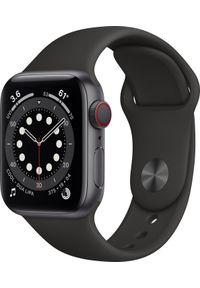 APPLE - Smartwatch Apple Watch Series 6 GPS + Cellular 40mm Gray Alu Black Sport Czarny (M06P3WB/A). Rodzaj zegarka: smartwatch. Kolor: czarny. Styl: sportowy
