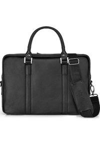 Czarna torba na laptopa Solier