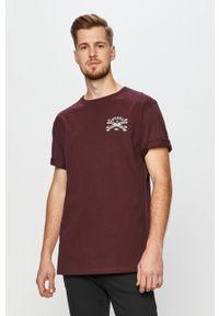 Brązowy t-shirt Dickies z nadrukiem, na co dzień, casualowy