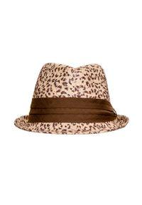 Beżowy kapelusz Hat You na lato, z aplikacjami, elegancki