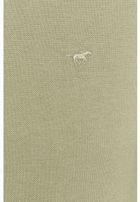 Zielona koszulka polo Mustang krótka, na co dzień