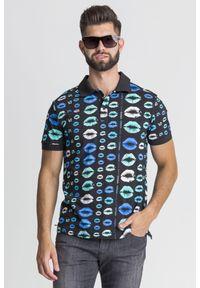 Koszulka polo Versace Jeans sportowa, polo, w jednolite wzory