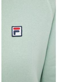 Fila - Bluza. Typ kołnierza: kaptur. Kolor: zielony. Materiał: bawełna. Długość rękawa: raglanowy rękaw