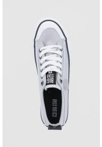 Big-Star - Big Star - Tenisówki. Nosek buta: okrągły. Zapięcie: sznurówki. Kolor: szary. Materiał: guma