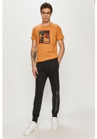 Pomarańczowy t-shirt columbia casualowy, na co dzień, z nadrukiem