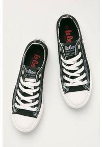 Lee Cooper - Tenisówki. Nosek buta: okrągły. Zapięcie: sznurówki. Kolor: czarny. Materiał: guma