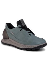 Zielone buty trekkingowe ecco trekkingowe, z cholewką, Gore-Tex