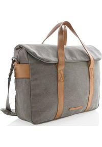 Szara torba na laptopa XD COLLECTION elegancka