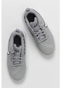 Szare buty sportowe Nike Kids z cholewką, z okrągłym noskiem