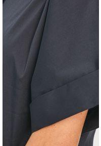 Niebieska koszula Liviana Conti krótka, gładkie, na co dzień, z krótkim rękawem