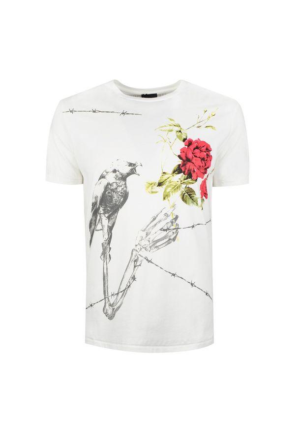 T-shirt Roberto Cavalli z nadrukiem, na co dzień, casualowy