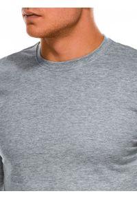 Szara koszulka z długim rękawem Ombre Clothing klasyczna, z kapturem