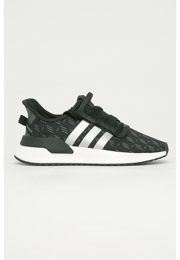 Czarne buty sportowe adidas Originals na sznurówki, z cholewką