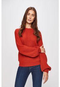 Czerwony sweter Vila raglanowy rękaw