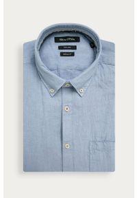 Niebieska koszula Marc O'Polo na co dzień, krótka, z krótkim rękawem