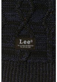 Czarny sweter Lee długi, z długim rękawem, z golfem