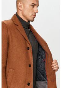 Brązowy płaszcz s.Oliver casualowy, bez kaptura, na co dzień