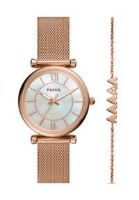 Różowy zegarek Fossil
