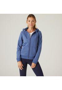 NYAMBA - Bluza na zamek damska Nyamba Gym & Pilates. Materiał: bawełna, poliester, materiał, elastan. Wzór: ze splotem. Sport: joga i pilates