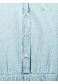 Niebieska sukienka Guess casualowa, prosta, na co dzień