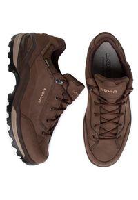 Brązowe buty trekkingowe Lowa Gore-Tex, trekkingowe, z cholewką