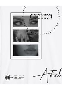 MAJORS - Biała bluza z grafiką Kiss. Kolor: biały. Materiał: jeans, bawełna. Długość rękawa: długi rękaw. Długość: długie. Styl: sportowy