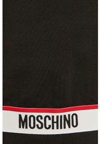Czarna bluza Moschino Underwear na co dzień, z długim rękawem