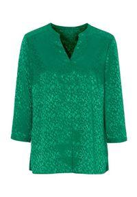 Cellbes Bluzka zielony female zielony 34/36. Typ kołnierza: dekolt w serek. Kolor: zielony. Materiał: tkanina, żakard. Styl: elegancki
