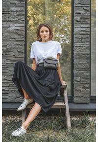 Czarna spódnica VEVA z aplikacjami, elegancka