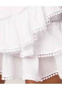 CHARO RUIZ IBIZA - Biała spódnica mini Fera. Kolor: biały. Materiał: bawełna. Sezon: lato. Styl: wakacyjny