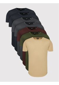 Only & Sons Komplet 7 t-shirtów Matt Life Longy 22012787 Kolorowy Regular Fit. Wzór: kolorowy