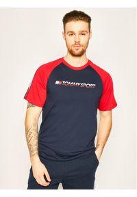 Tommy Sport T-Shirt Logo S20S200196 Granatowy Regular Fit. Kolor: niebieski. Styl: sportowy