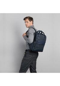 """Wittchen - Męski plecak z kieszenią na laptopa 15,6"""" metaliczny. Kolor: niebieski. Materiał: nylon. Wzór: paski #2"""