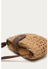 Beżowa torba plażowa ANSWEAR na ramię, wakacyjna