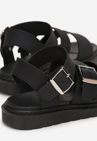Renee - Czarne Sandały Calocea. Kolor: czarny