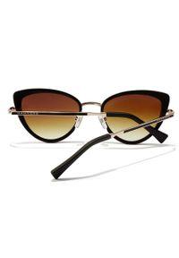 Hawkers - Okulary przeciwsłoneczne FELINE - BROWN. Kolor: brązowy