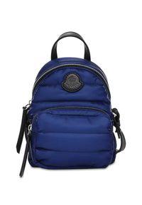 MONCLER - Niebieski plecak Kilia. Kolor: niebieski. Materiał: materiał. Wzór: aplikacja