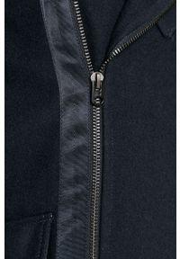 Niebieski płaszcz G-Star RAW na co dzień, bez kaptura #6