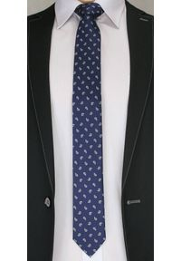 Niebieski krawat Chattier paisley, elegancki