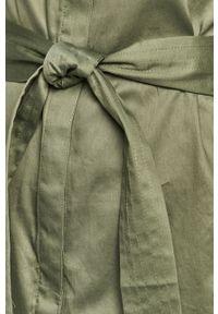 Brązowa sukienka Pepe Jeans rozkloszowana, mini, casualowa, na co dzień