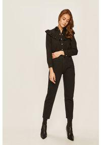Czarne jeansy ANSWEAR z podwyższonym stanem