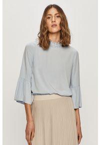 Niebieska bluzka Jacqueline de Yong długa, na co dzień