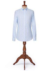 Niebieska koszula Lancerto w prążki, vintage, button down