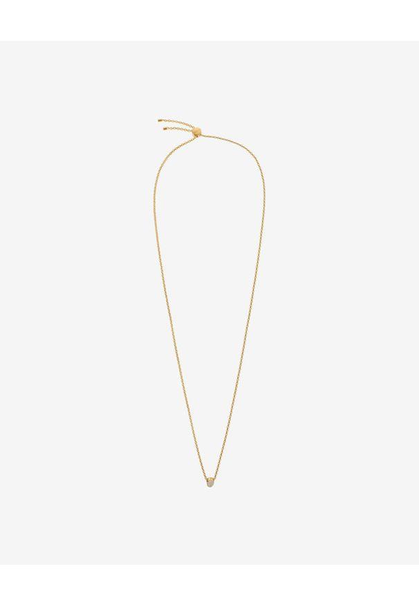 Złoty naszyjnik Calvin Klein w kolorowe wzory, złoty, z kryształem