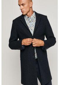 Niebieski płaszcz medicine na co dzień, casualowy, bez kaptura