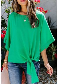 Zielona bluzka IVET na co dzień, elegancka