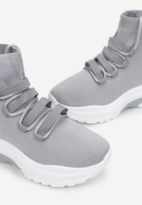 Born2be - Szare Sneakersy Summer Snapdragon. Kolor: szary