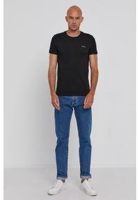 Calvin Klein Jeans - T-shirt (2-pack). Okazja: na co dzień. Kolor: niebieski. Materiał: dzianina. Wzór: gładki. Styl: casual