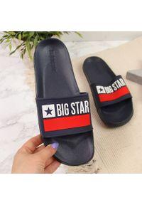Niebieskie klapki Big-Star na plażę